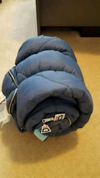 blue sleeping bag