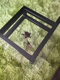 Hand crafted glass top coffee table Calgary, T3B 2M7