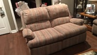 brown, white, and gray  2-seat sofa