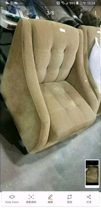 2 trendy style brown fabric chair set! Calgary, T2A 5R5