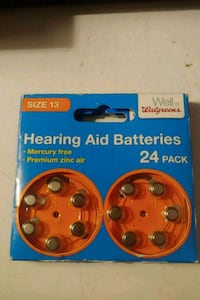 Hearing aid batteries - size 13 - 24 pack -Dunmore Dunmore, 18512