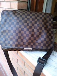 Tote bag in pelle Louis Vuitton damier ebene