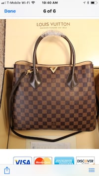 Damier Ebene Louis Vuitton leather tote bag Apple Valley, 55124