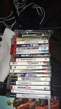 assorted Sony PS3 game cases Dallas, 75235
