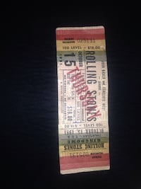 Rolling Stones ticket unused 1981 at kingdomes which makes it very rareg Fairbanks, 99701
