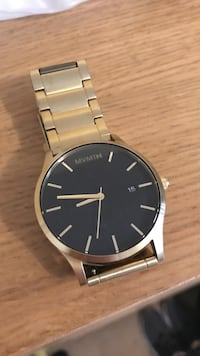 Classic black/gold MVMT watch