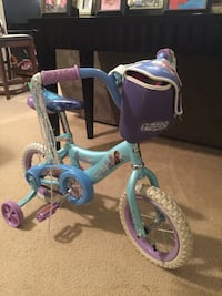 frozen blue and pink bicycle with helmet and pads Newport News, 23602