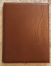 Brown leather business note organizer Folsom, 95630