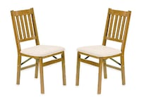 NEW-Stakmore Arts & Crafts Wood Folding Chairs (Set of 2) Mount Holly