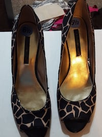 brown and beige leopard flat shoes Oklahoma City, 73109