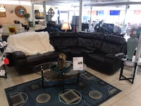 black leather living room set Houston, 77041