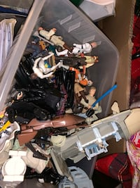Star Wars retro action figures and vehicles