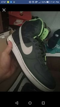 green, white. and black lace-up mid-cut sneaker sc Ames, 50014