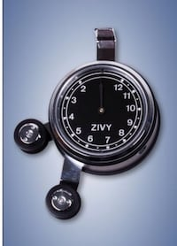 Round black Zivy analog watch