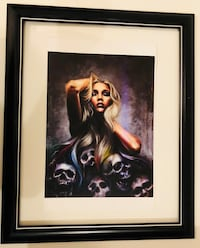 "Skull lady Fine art print . 18 x 22"" framed with glass. Brand new .  bin  $30 . Pick up in Mission  by Highway 7  and Cedar valley connecter    Mission, V2V 1C5"