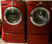 red front-load washer and dryer set Glendale, 85305