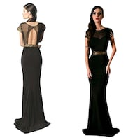 Brand New black w gold sequin trim gown Mobile, 36604