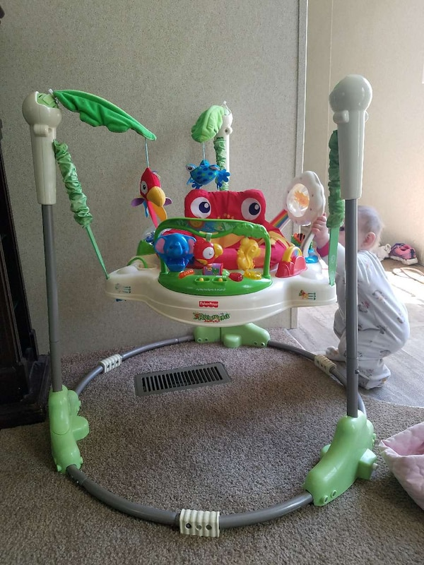 180eb044d Used baby s Fisher-Price jungle theme jumperoo for sale in Monroe ...