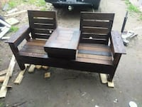 New built rustic bench  Claremore