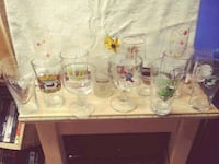 Bar glassware and hand painted champagne flutes Silver Spring, 20906
