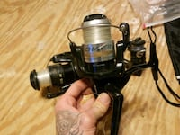 black and gray fishing reel Taylorsville, 30178