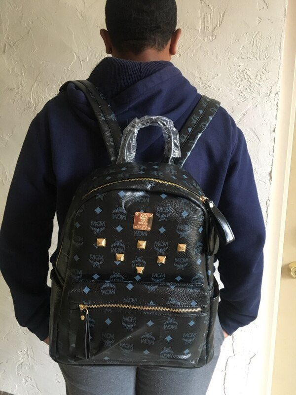 Used black MCM leather backpack for sale in Akron - letgo 28763eae59285