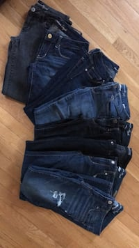 American eagle/Levi jeans 8 pairs (size 6/7) Sterling, 20164