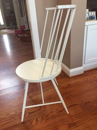 Metal/wooden arrowback chairs (2) Edgewater
