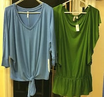 Two New Dress Shirts (Green and Blue)