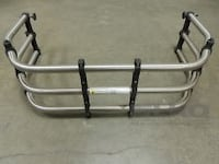 Black and chrome truck bed extender