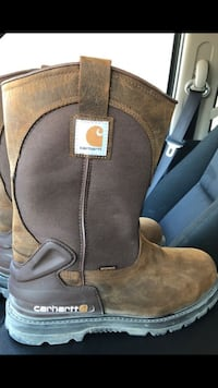 Size 12 D carhartt bison steel toe boots  League City, 77573