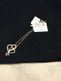 diamond studded silver-colored heart pendant Cleveland, 44111