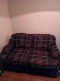 red and green plaid fabric sofa chair North Charleston, 29406