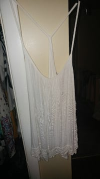 Large razor back tank with embroidery