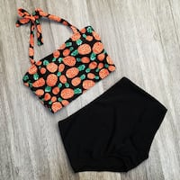 Brand New Pineapple Two-Piece Swimsuit Surrey, V4N 4Z7