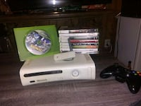 white Xbox 360 with game cases Portland, 97233