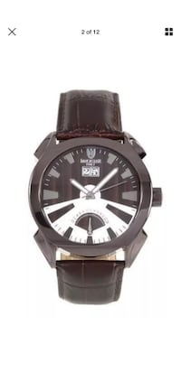 Lancaster Italian Brown Leather Stainless Steel Quartz OLA0346BR Men New York, 11209