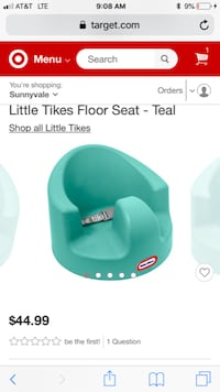 Little tikes floor chair with tray 2396 mi