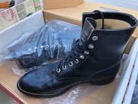 Justin black leather high-top boots  Bakersfield, 93312