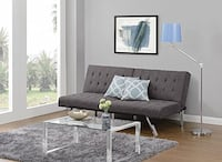 Grey Convertible Futon Sofa Vienna, 22182