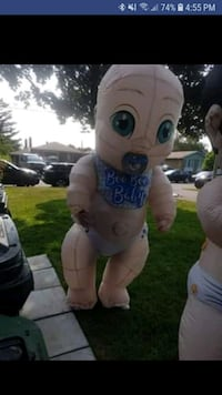 Gender Reveal Inflatables!! Price is for both, batteries included!!