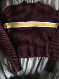 Forever 21 burgandy sweater with yellow stripe Montebello, 90640