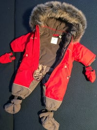 Red and warm winter overalls 6275 km