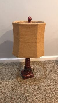 Red and black table lamp East Islip, 11730