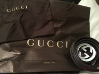 Brown leather Gucci belt. (REAL)
