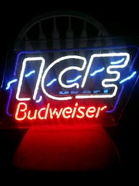blue and red Ice Budweiser neon signage Harlingen, 78550