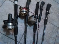 Assorted fishing poles  1950 mi