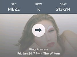 King Princess Tickets (January 24 @ The Wiltern)