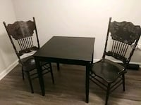 brown wooden table with two chairs  Stockbridge, 30281