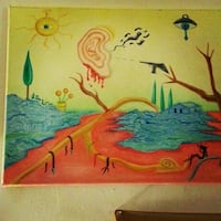 multi-colored painting